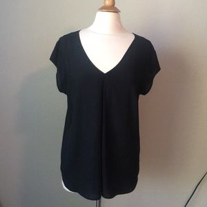 Black top with strap in back
